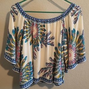 Free Market by Flying Tomato Peasant Boho Top